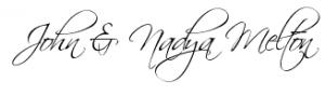 John and Nadya Melton Signature