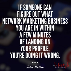 Network marketing on facebook