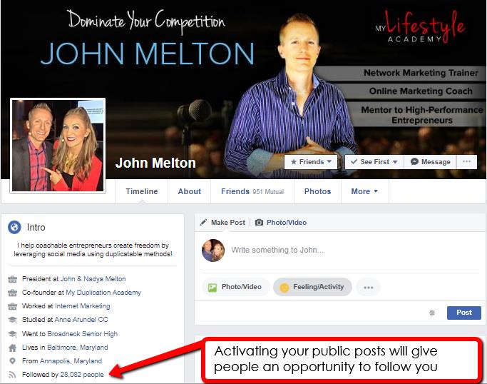 Activate your public posts