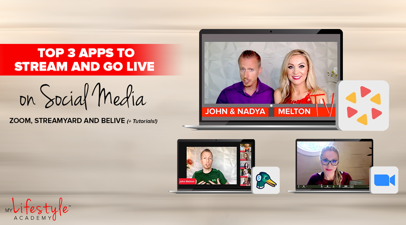 Top 3 Tools to Stream and Go Live on Social Media: Zoom, BeLive and StreamYard (+Tutorials!)